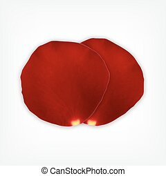 Rose petals EPS10 Vector icon