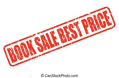 BOOK SALE BEST PRICE red stamp text on white