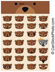Bear emoji icons