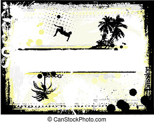 beach soccer  - soccer background
