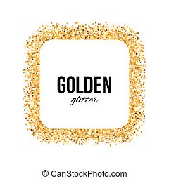 Golden Frame in the Form of Square with Text