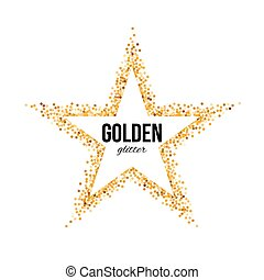 Golden Frame in the Form of Star with Text