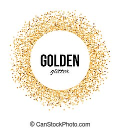 Golden Frame - Golden Circle Frame with Text - Golden...