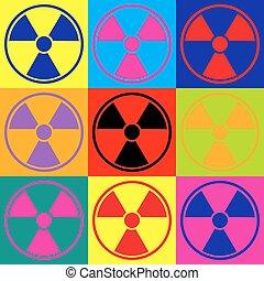 Radiation Round sign