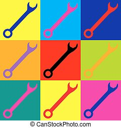 Crossed wrenches sign