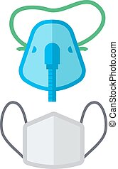 Breath mask vector illustration - Breath mask medical oxygen...