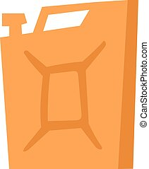 Jerry can vector illustration. - Red metal fuel tank or...
