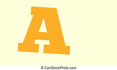 """Animation of color """"SALE"""" text letters"""