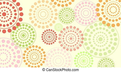 dimming pulsing circles - Abstract light summer spring color...