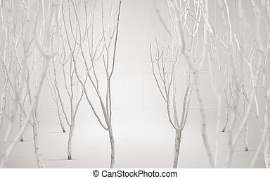 Fine art photo of a dreamy white background - Fine art...