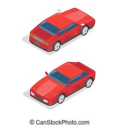 Isometric Transportation. Sport Car. Isometric Car. Vector...