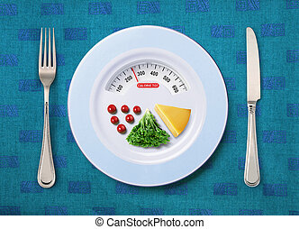 calorie tot of food - view of calorie tot in food that on...