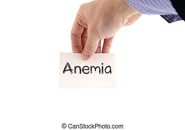 anemia, texto, concepto,