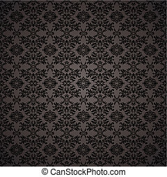 Gothic seamless wallpaper - Black gothic repeating seamless...