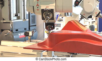 CNC Router and Machining Center at woodworking and furniture...