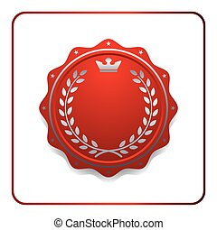 Seal award red icon Blank medal