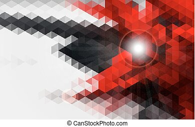 Abstract geometric red and black background design.