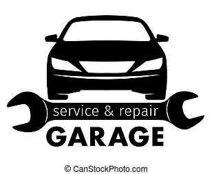 Auto center, garage service and repair logo,Vector Template....