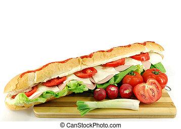 big sub sandwich