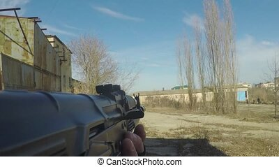 The game of Airsoft - Playing airsoft, first person playing