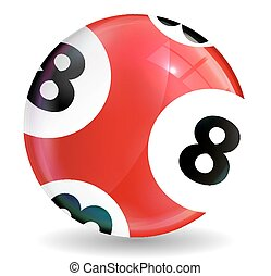 Victory Ball for the game of lottery. Jack pot. Vector...