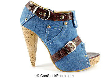 high heel open toe shoe - woman high heel open toe jeans...