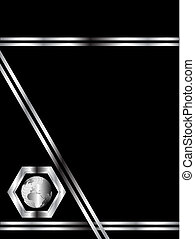 A black and silver business card template