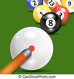 Ivories, Billiard Balls Background