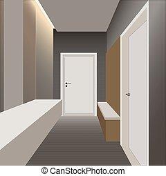 interior design - the interior design of the apartment...