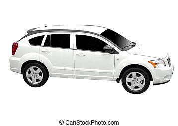 neu, weißes, Auto