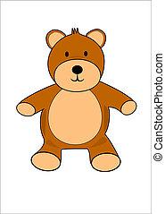 A cartoon teddy bear vector