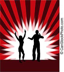 Dancers Vector Illustration