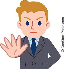 Deny young Caucasian businessman - Vector...