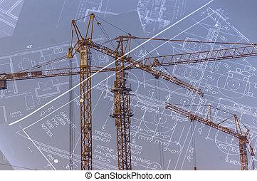 conceito, de, arquitetura,