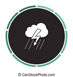 thunderstorm computer symbol - thunderstorm Simple flat...