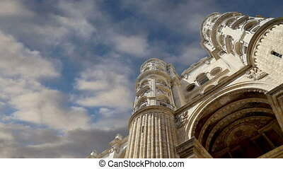 Cathedral of Malaga-- Spain. - Cathedral of Malaga-- is a...