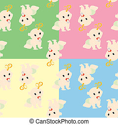 Pattern with babies