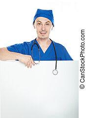 man, baner, läkare