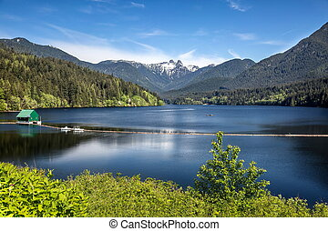 Capilano Reservoir Mountains Vancou - Capilano Reservoir...