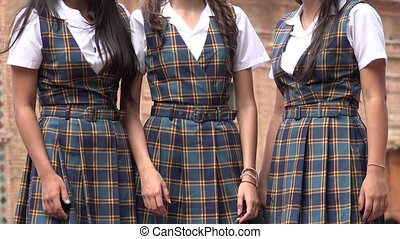 Female Uniforms Or Dresses