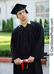The graduate thinking about his future - The student...