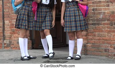 Female Students Wearing Skirts Or Dresses