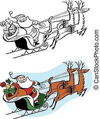 Santa Sleigh & Reindeer