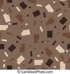 Chocolate bar seamless pattern.