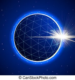Abstract Sphere in Space with Eclipse