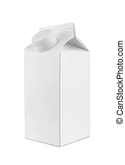 Milk and juice white carton package