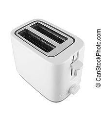 Toaster on white background