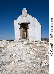 small chapel in the mexican desert used for the conversion of indians to christianity in colonial times