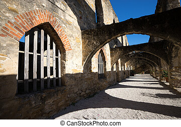 medieval arches in san jose mission texas