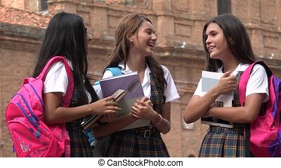 High School Students Laughing